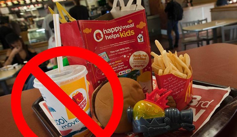 McDonald's Meal With The Beverage Crossed Out