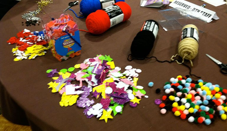 Arts And Craft Materials On A Table