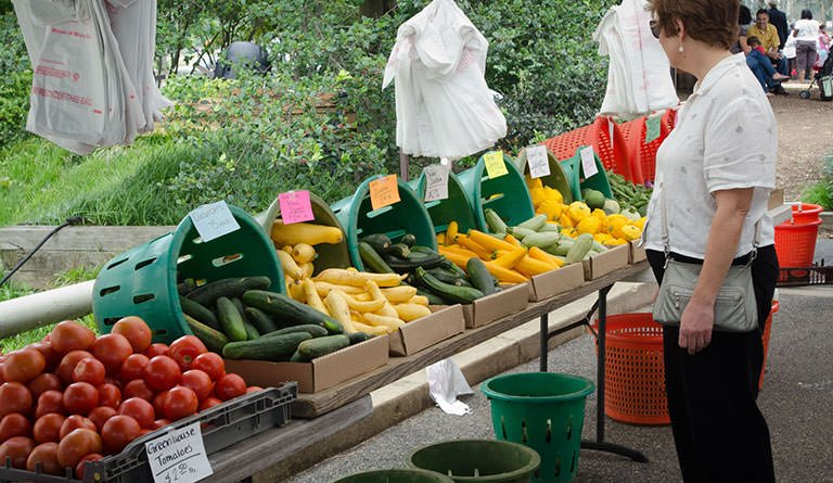 Fruits And Vegetables On Display